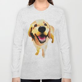 Good Boy / Yellow Labrador Retriever dog art Long Sleeve T-shirt