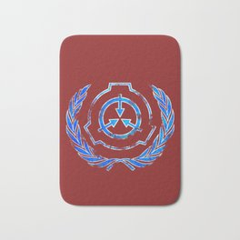 SCP foundation blue crest symbol Bath Mat