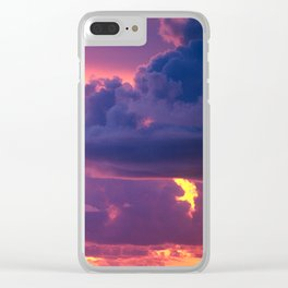 Purple Sunset Over Tiny Island in Micronesia Clear iPhone Case