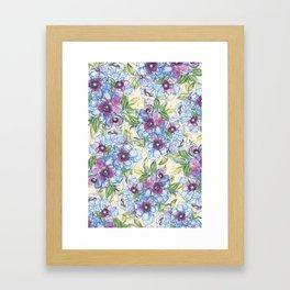 Big Blue Poppies Framed Art Print
