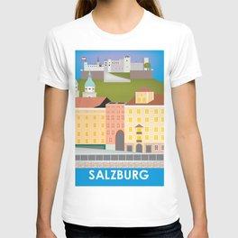 Salzburg, Austria - Skyline Illustration by Loose Petals T-shirt