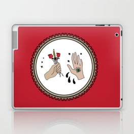 Evil Eye & Sword Hands in Frame Laptop & iPad Skin