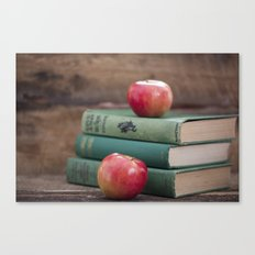 Books and Apples- Fall Reading Canvas Print