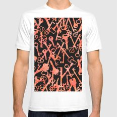 Keys Without Locks Mens Fitted Tee White MEDIUM