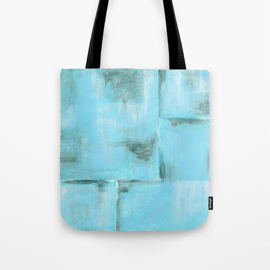Frost, Abstract Art Painting Tote Bag