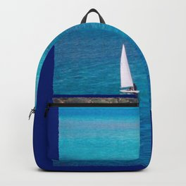 Perfect Blue Sailing Day Backpack