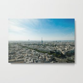 Paris France and Eiffel Tower by day time Metal Print