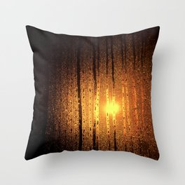 the red light glow Throw Pillow