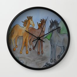 River Mustachio Wall Clock