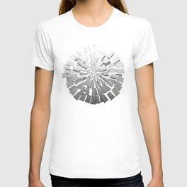 Grey Sunburst 2 T-shirt