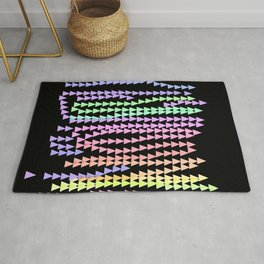 Triangle without result in black Rug