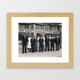 Hilton Dairy Staff - Vancouver, BC -  Mar 17 1936 Framed Art Print
