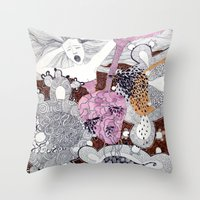 scream Throw Pillows featuring Scream by doviArt