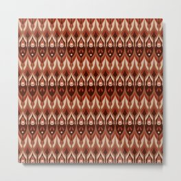 Brown and beige ethnic pattern . Metal Print