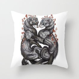 Ferret Companions Throw Pillow