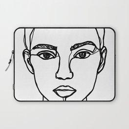 Model face line drawing - Bobbi Laptop Sleeve