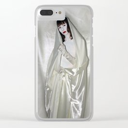 """say no to patriarchy / """"the madonna"""" Clear iPhone Case"""