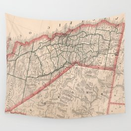 Vintage Map of California (1883) Wall Tapestry