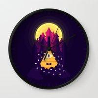 bill Wall Clocks featuring BILL by badOdds