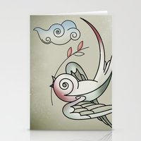 sparrow Stationery Cards featuring Sparrow by Vin Zzep