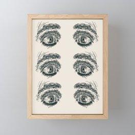 Exhausted  Eyes Framed Mini Art Print