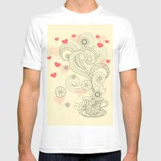 tea with love Mens Fitted Tee MEDIUM White