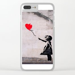 Banksy, Hope Clear iPhone Case