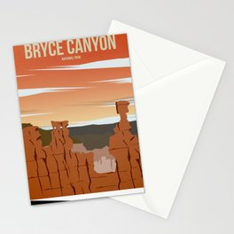 Bryce Canyon National Park - Travel Poster Stationery Cards