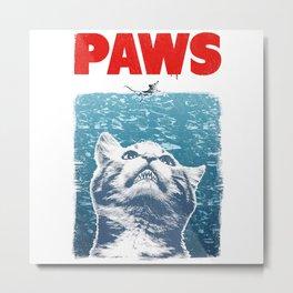 cat meow paws Metal Print