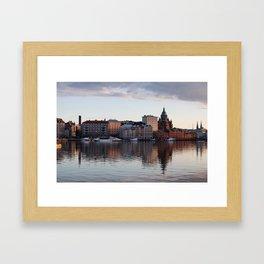 Helsinki Cityscape with Uspenski Cathedral Framed Art Print