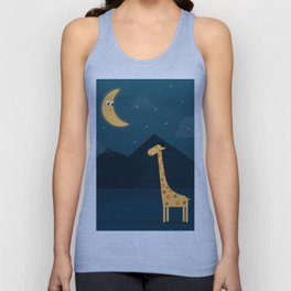 The Giraffe and the Moon Unisex Tank Top