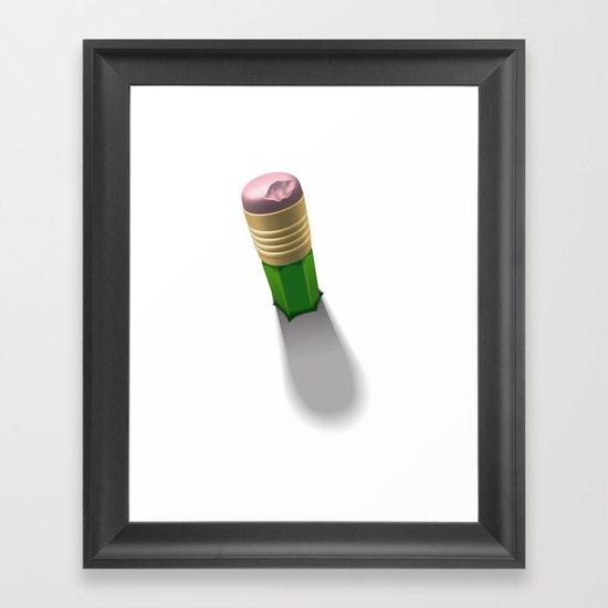 Eraser Framed Art Print