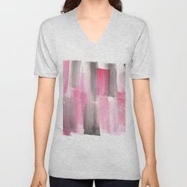 [161228] 27. Abstract Watercolour Color Study |Watercolor Brush Stroke Unisex V-Neck