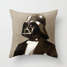 Portrait of Sir Vader Throw Pillow
