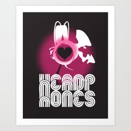 ♥ HEADPHONES Art Print