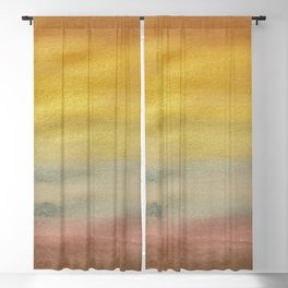 Metallic Rainbow Watercolor Blackout Curtain