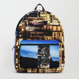 0576 Twilight Vancouver and ShangriLa Hotel Backpack
