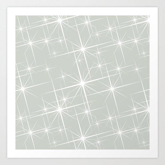 Gray Grey Glitters Sea Salt Art Print