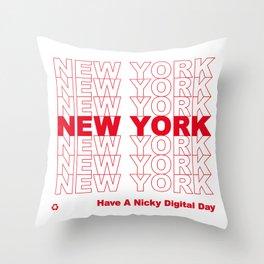 NEW YORK NEW YORK NEW YORK Throw Pillow