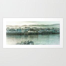 Fisherman's Wharf, Cannery Row, Montery Bay, California Art Print