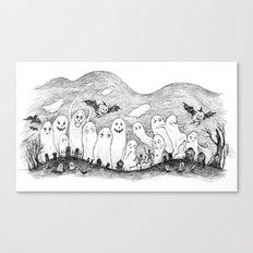 Halloween Ghosts Canvas Print
