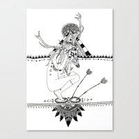 pocahontas Canvas Prints featuring Pocahontas by Hannah de Lisle