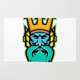 Poseidon Greek God Mascot Rug