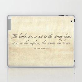 The Battle by Patrick Henry Laptop & iPad Skin
