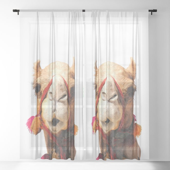 Camel Portrait Sheer Curtain