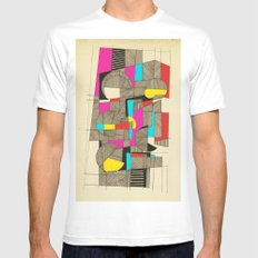 - architecture#03 - White MEDIUM Mens Fitted Tee
