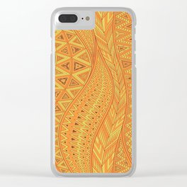 Hot Wave. tribal geometric seamless pattern Clear iPhone Case