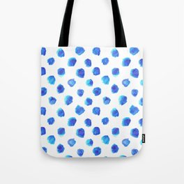 Watercolor Tie Dye Dots in Indigo Blue Tote Bag