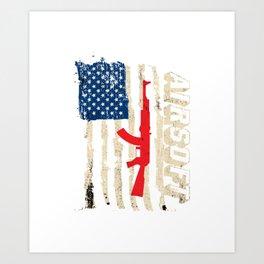 Air Soft Gun Pellet Gun Popgun Pneumatic Gun Gift  Art Print