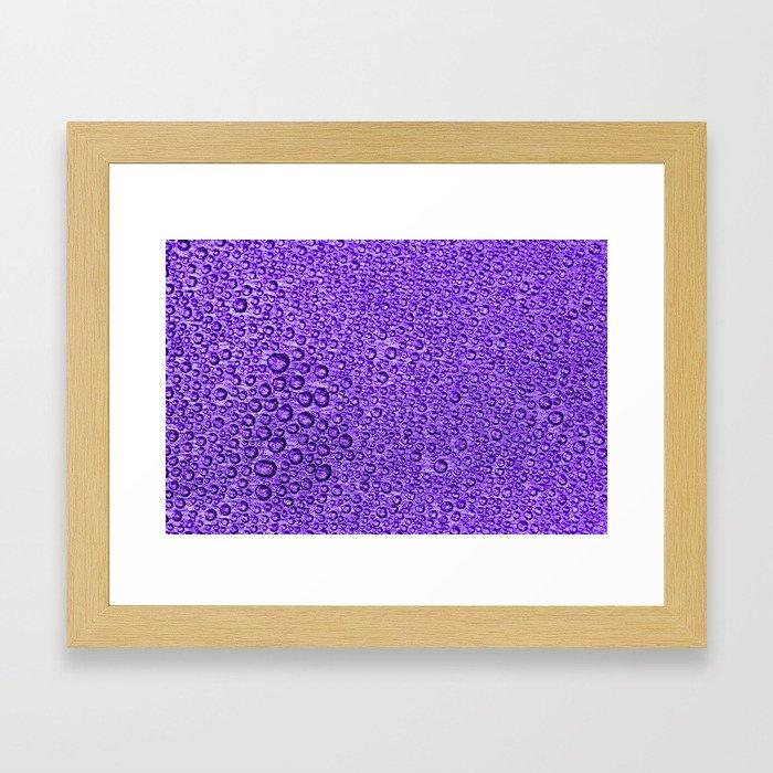 Water Condensation 05 Violet Framed Art Print